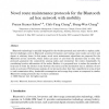 Novel route maintenance protocols for the Bluetooth ad hoc network with mobility