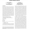 Novelty of behaviour as a basis for the neuro-evolution of operant reward learning