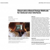 Observation-based design methods for gestural user interfaces