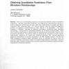 Obtaining Quantitative Predictions from Monotone Relationships