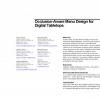 Occlusion-aware menu design for digital tabletops