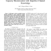 OFDMA Downlink Resource Allocation for Ergodic Capacity Maximization with Imperfect Channel Knowledge