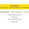 OmniUnpack: Fast, Generic, and Safe Unpacking of Malware