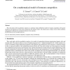 On a mathematical model of immune competition