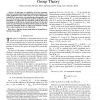 On a relation between information inequalities and group theory
