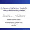 On approximating optimum repairs for functional dependency violations