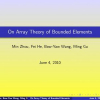 On Array Theory of Bounded Elements