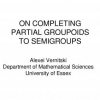 On Completing Partial Groupoids to Semigroups