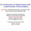 On Constructions of Optical Queues with a Limited Number of Recirculations
