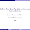 On First-Order Query Rewriting for Incomplete Database Histories