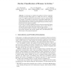 On-Line Classification of Human Activities