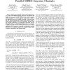 On MMSE Properties and I-MMSE Implications in Parallel MIMO Gaussian Channels