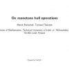 On monotone hull operations