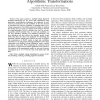 On multiple-voltage high-level synthesis using algorithmic transformations