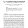 On Preventing Telephony Feature Interactions which are Shared-Control Mode Confusions