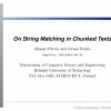 On String Matching in Chunked Texts