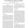 On test conditions for the detection of open defects