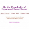 On the Complexity of Equational Horn Clauses
