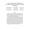On the computational complexity of assumption-based argumentation for default reasoning