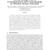 On the Energy Cost of Communication and Cryptography in Wireless Sensor Networks