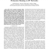 On the Feasibility and Efficacy of Protection Routing in IP Networks