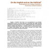 On the Implicit and on the Artificial - Morphogenesis and Emergent Aesthetics in Autonomous Collective Systems