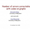 On the Number of Errors Correctable with Codes on Graphs