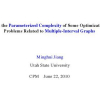 On the Parameterized Complexity of Some Optimization Problems Related to Multiple-Interval Graphs