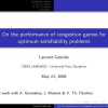 On the Performance of Congestion Games for Optimum Satisfiability Problems