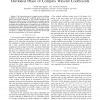 On the probability density function of the derotated phase of complex wavelet coefficients