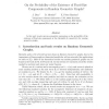On the Probability of the Existence of Fixed-Size Components in Random Geometric Graphs