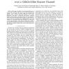 On the Queueing Behavior of Random Codes over a Gilbert-Elliot Erasure Channel
