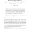 On the solution existence of pseudomonotone variational inequalities