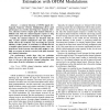 On the Use of Implicit Pilots for Channel Estimation with OFDM Modulations