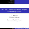 On Using Channel Prediction in Adaptive Beamforming Systems
