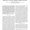 One- and Two-Way Decode-and-Forward Relaying for Wireless Multiuser MIMO Networks