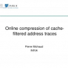 Online compression of cache-filtered address traces