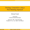 Ontology Composition using a Role Modeling Approach