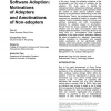 Open source software adoption: motivations of adopters and amotivations of non-adopters
