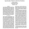 Operationality Criteria for Recursive Predicates