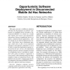 Opportunistic Software Deployment in Disconnected Mobile Ad Hoc Networks