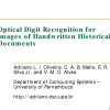 Optical Digit Recognition for Images of Handwritten Historical Documents