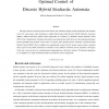 Optimal Control of Discrete Hybrid Stochastic Automata