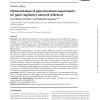 Optimal design of gene knockout experiments for gene regulatory network inference