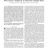 Optimal Downlink OFDMA Resource Allocation with Linear Complexity to Maximize Ergodic Rates