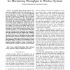 Optimal joint probing and transmission strategy for maximizing throughput in wireless systems