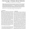 Optimal Patterns for Four-Connectivity and Full Coverage in Wireless Sensor Networks