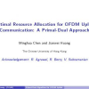 Optimal resource allocation for OFDM uplink communication: A primal-dual approach