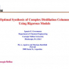 Optimal synthesis of complex distillation columns using rigorous models