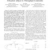 Optimal utility based multi-user throughput allocation subject to throughput constraints